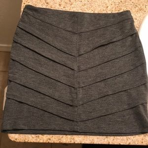 Dark Grey Mini Pencil Skirt